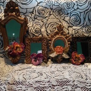 4 burnished gold Victorian frames
